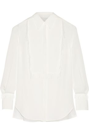 3.1 PHILLIP LIM Fringed silk-crepe shirt