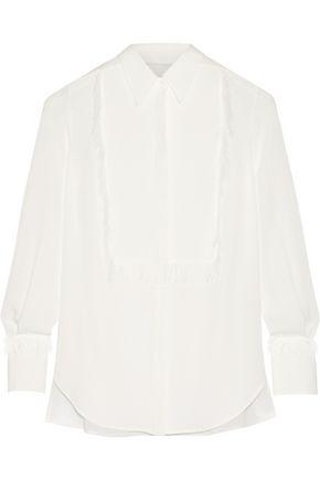3.1 PHILLIP LIM Fringed silk-crepe shirt