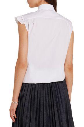 JIL SANDER Ruffled cotton-poplin blouse
