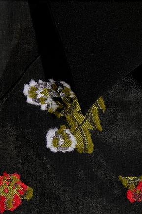 ERDEM Franny ruffled fil coupé silk-organza top