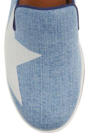 STELLA McCARTNEY Denim platform slip-on sneakers