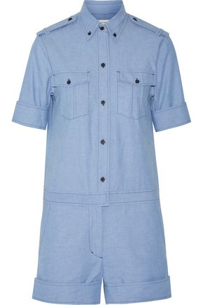 ISABEL MARANT ÉTOILE Wei cotton-chambray playsuit