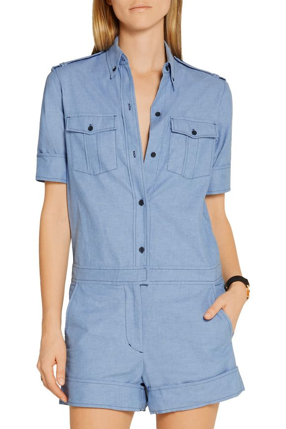 75d1b3b52124 Wei cotton-chambray playsuit