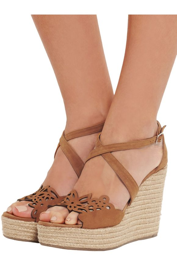 Clem cutout suede espadrille wedge sandals | TABITHA SIMMONS | Sale up to 70%  off | THE OUTNET