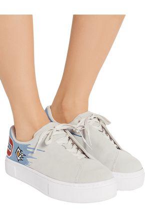 EYTYS Doja Mahlangu embroidered suede sneakers