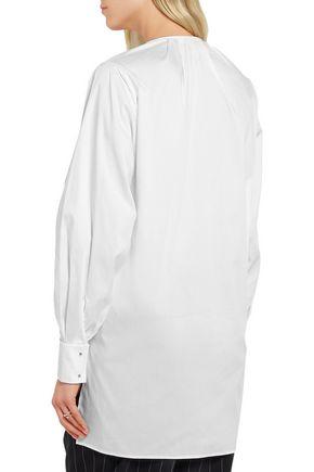 ESTEBAN CORTAZAR Embellished cotton-blend poplin tunic
