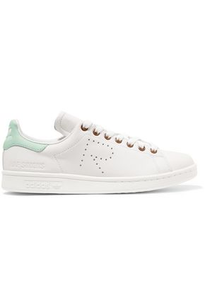 ADIDAS ORIGINALS + Raf Simons Stan Smith perforated leather sneakers