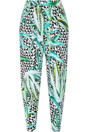 MARA HOFFMAN Printed crinkled-crepe pants