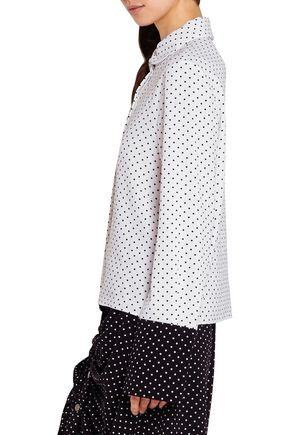 J.W.ANDERSON Two-tone polka-dot crepe blouse