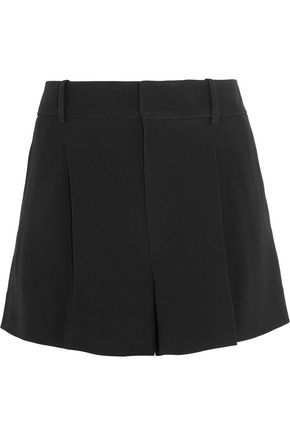 CHLOÉ Iconic pleated crepe shorts