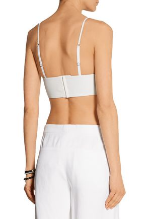 T by ALEXANDER WANG Leather bra top