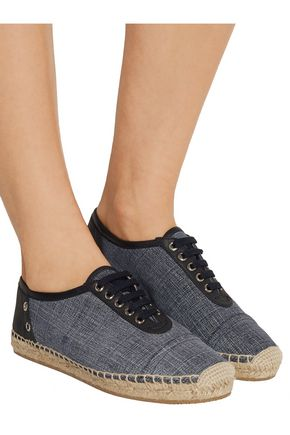 JIMMY CHOO LONDON Dare elaphe and leather espadrilles