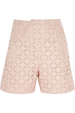 ROLAND MOURET Kelston broderie anglaise cotton and silk-blend shorts
