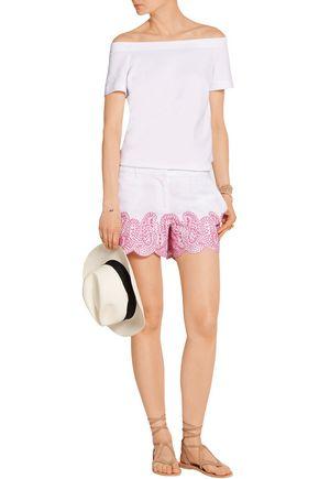MICHAEL MICHAEL KORS Broderie anglaise linen shorts