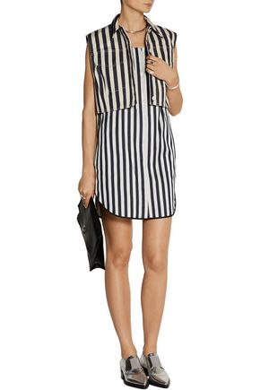 3.1 PHILLIP LIM Denim and satin-twill mini dress and vest set