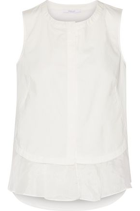 10 CROSBY DEREK LAM Ruffled cotton-poplin top
