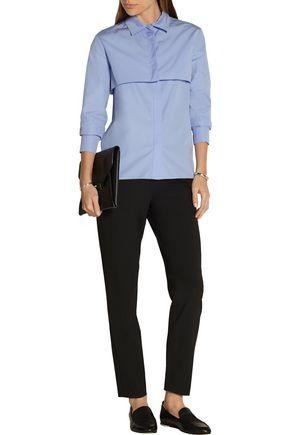 NINA RICCI Cropped cotton-poplin shirt
