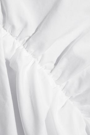 J.W.ANDERSON Off-the-shoulder cotton-poplin top
