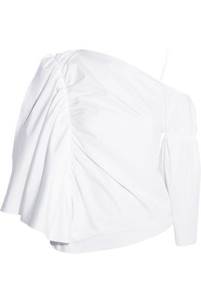 J.W.ANDERSON Off-the-shoulder cotton-poplin top