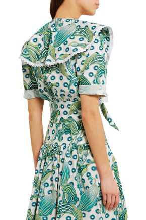 TEMPERLEY LONDON Florrie printed cotton top