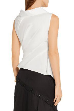 MONSE Asymmetric stretch-cotton twill shirt