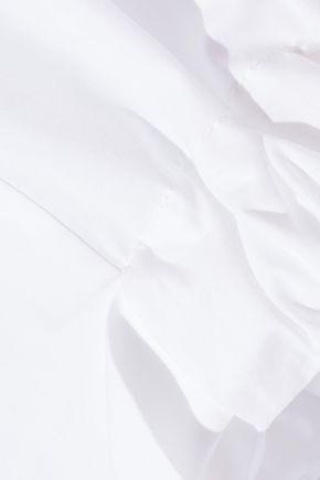 VICTORIA BECKHAM Cropped cotton-poplin shirt