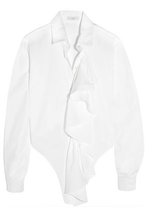 TOME Freedom For All ruffled cotton shirt