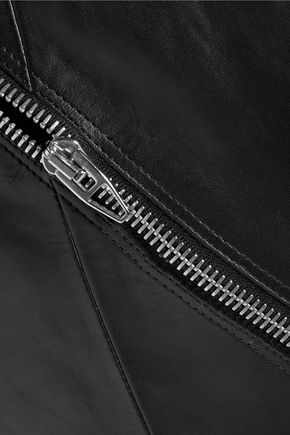 ALEXANDER WANG Zip embellished leather top