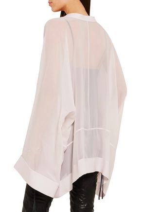 HAIDER ACKERMANN Oversized silk-georgette blouse