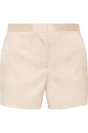 THE ROW Shors silk and wool-blend shantung shorts