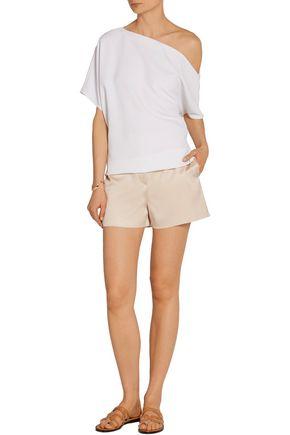THE ROW Shors silk and wool-blend shantung shorts