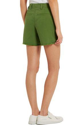 TOPSHOP UNIQUE Badgemore cotton-drill shorts