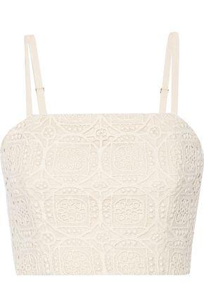 ALICE + OLIVIA Brentley crocheted cotton top