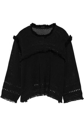 ISABEL MARANT Tegan frayed cotton top