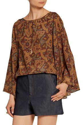 VANESSA SEWARD Baudelaire printed silk top