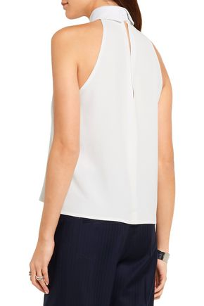 PALLAS Sharon twill-trimmed crepe top