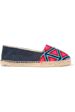 MANEBÍ Suede and canvas espadrilles