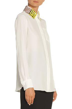 ALTUZARRA Chika sequin-embellished silk crepe de chine shirt