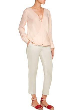 DEREK LAM 10 CROSBY Silk-chiffon blouse