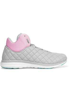 APL® ATHLETIC PROPULSION LABS Lusso quilted textured-leather high-top sneakers