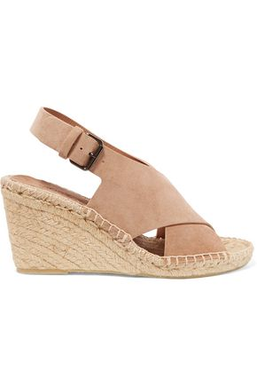 VINCE. Sabrina suede espadrille wedge sandals