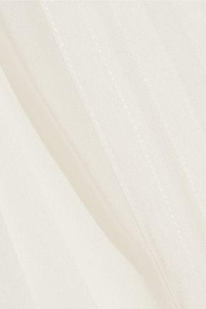 DIANE VON FURSTENBERG Jayne pintucked silk-chiffon top