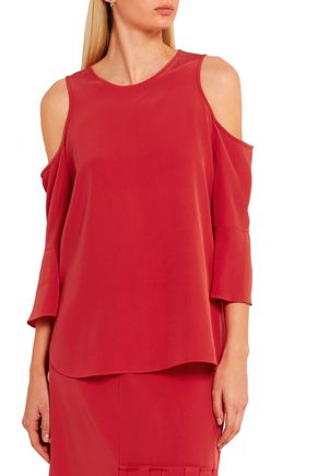 TIBI Cutout silk top