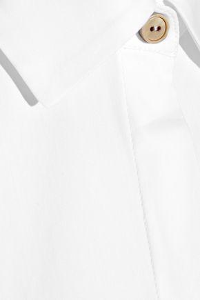ROSETTA GETTY Cotton-blend poplin halterneck top