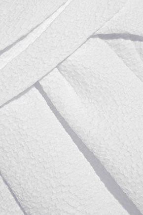 CARVEN Wrap-effect matelassé top