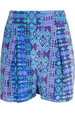 MATTHEW WILLIAMSON Printed silk crepe de chine shorts