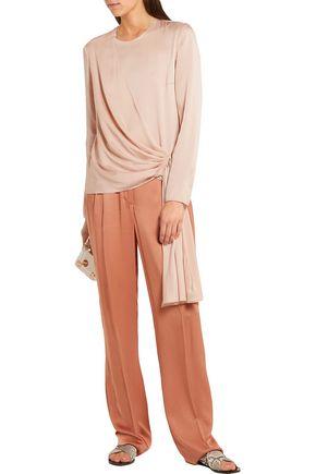LANVIN Draped crepe de chine blouse