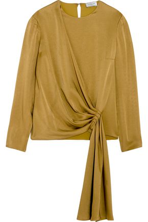 LANVIN Draped crepe de chine blouse