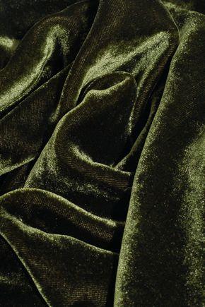 LANVIN Tulle-paneled velvet top