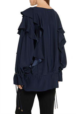 LANVIN Ruffled crepe blouse